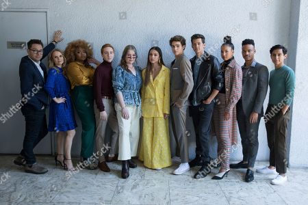 "Stock Photo of Tim Federle, on left, Kate Reinders, Dara Renne, Larry Saperstein, Julia Lester, Olivia Rodrigo, Joshua Bassett, Matt Cornett, Sofie Wylie, Mark St. Cyr, Frankie A. Rodriguez. Tim Federle, on left, Kate Reinders, Dara Renne, Larry Saperstein, Julia Lester, Olivia Rodrigo, Joshua Bassett, Matt Cornett, Sofie Wylie, Mark St. Cyr, and Frankie A. Rodriguez pose at the Disney + launch event promoting ""High School Musical: The Musical: The Series"" at the London West Hollywood hotel, in West Hollywood, Calif"