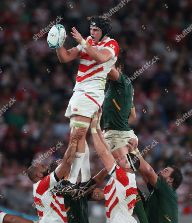 Japan vs South Africa. James Moore of Japan