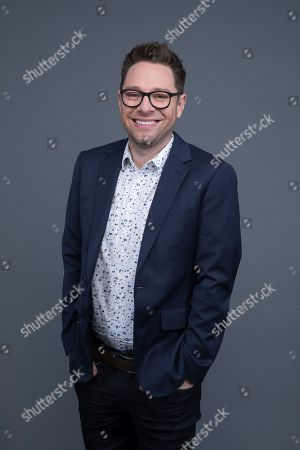"Tim Federle poses at the Disney + launch event promoting ""High School Musical: The Musical: The Series"" at the London West Hollywood hotel on in West Hollywood, Calif"