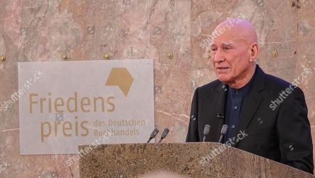 Brazilian photographer and author Sebastiao Salgado  after receive the award Peace Prize ceremony of the German Book Trade in Frankfurt Main, Germany, 20 October 2019.  Sebastiao Salgado is awarded with the Peace Prize of the German Book Trade by the German Publishers and Booksellers Association (Boersenverein des Deutschen Buchhandels) on the sidelines of the Frankfurt Book Fair. He won the German book trade Peace Prize for raising awareness about environmental destruction and the climate crisis