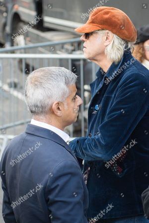 People's Vote Anti Bexit protest march for a vote on Brexit, Mayor of London Sadiq Aman Khan, Bob Geldof
