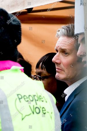 People's Vote Anti Bexit protest march for a vote on Brexit, Shadow Secretary of State for Exiting the European Union Keir Starmer