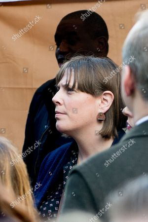 Stock Picture of People's Vote Anti Bexit protest march for a vote on Brexit, Jess Phillips Labour Member of Parliament for Birmingham Yardley
