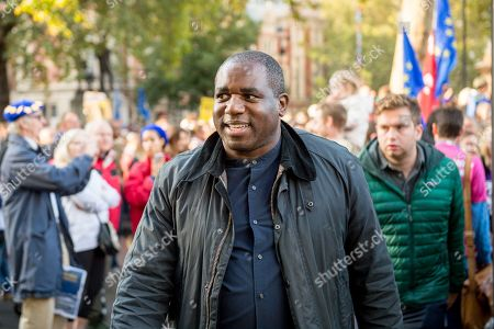 Stock Photo of People's Vote Anti Bexit protest march for a vote on Brexit, David Lammy PC MP FRSA Member of Parliament for Tottenham