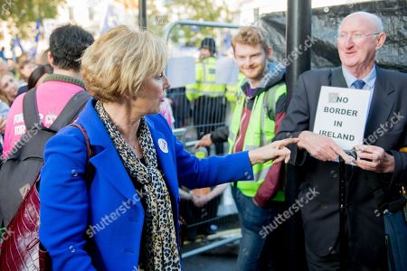 People's Vote Anti Bexit protest march for a vote on Brexit, Anna Soubry Party leader of Change UK