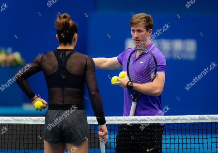 Tom Hill during practice ahead of the 2019 WTA Elite Trophy tennis tournament