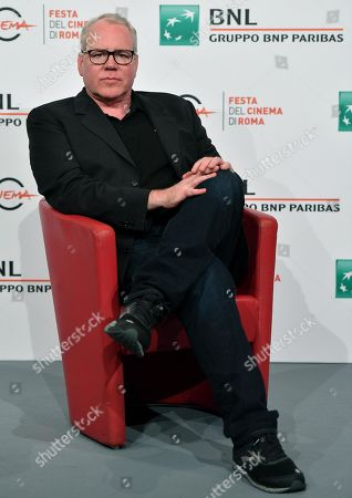 Bret Easton Ellis poses during a photocall at the 14th annual Rome Film Festival, in Rome, Italy, 20 October 2019. The film festival runs from 17 to 27 October.