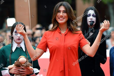 Virginia Raffaele arrives for the screening of ''La famiglia Addams'' at the 14th annual Rome Film Festival, in Rome, Italy, 20 October 2019. The film festival runs from 17 to 27 October.