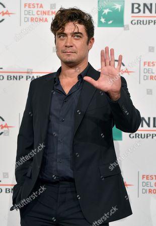 Riccardo Scamarcio poses for 'Il ladro di giorni' at the 14th annual Rome Film Festival, in Rome, Italy, 20 October 2019. The film festival runs from 17 to 27 October.
