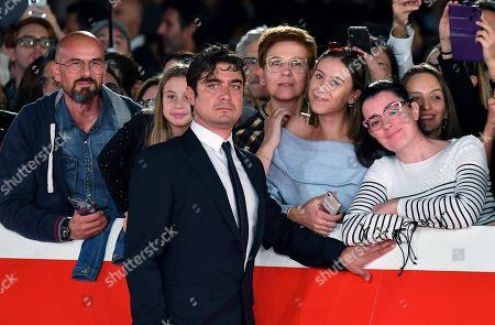 Riccardo Scamarcio arrives for the screening of 'Il ladro di giorni' at the 14th annual Rome Film Festival, in Rome, Italy, 20 October 2019. The film festival runs from 17 to 27 October.