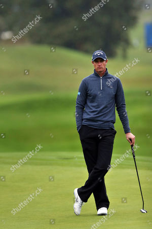 Nicolas Colsaerts of Belgium waits on the green during the last day of the Amundi French Open, at Le Golf National in Saint-Quentin-en-Yvelines, outside Paris, France
