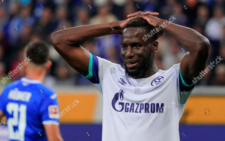 Schalke's Salif Sane reacts during the German Bundesliga soccer match between TSG 1899 Hoffenheim and FC Schalke 04 in Sinsheim, Germany, 20 October 2019.