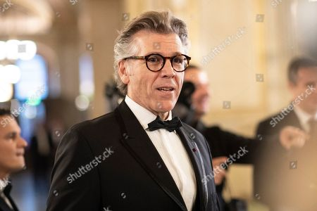 Stock Picture of US lyric baritone Thomas Hampson arrives at the European Cultural Award in Vienna, Austria, 20 October 2019.