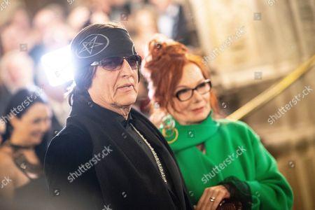 Stock Picture of Austrian artist Gottfried Helnwein (L) and Renate Helnwein arrive at the European Cultural Award in Vienna, Austria, 20 October 2019.