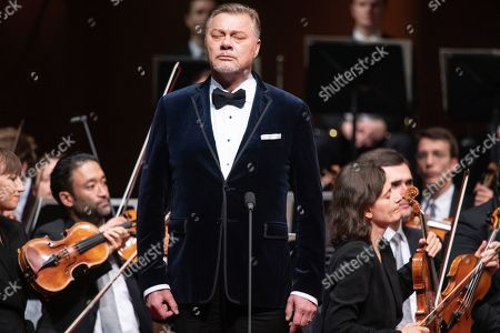 German bass Rene Pape performs on stage during the European Cultural Award Gala in Vienna, Austria, 20 October 2019.