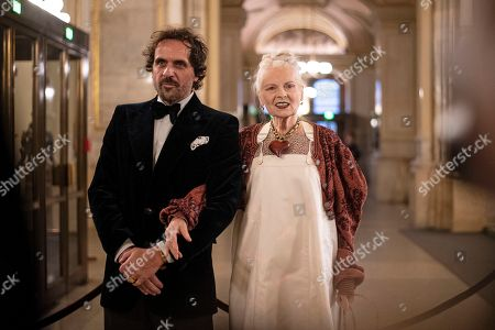 British fashion designer Vivienne Westwood (R) and her husband Andreas Kronthaler (L) arrive at the European Cultural Award in Vienna, Austria, 20 October 2019. Westwood is among the winners of this year's prizes.