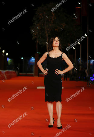 Director Melora Walters arrives on the red carpet for the screening of 'Drowning' at the Rome Film Fest in Rome