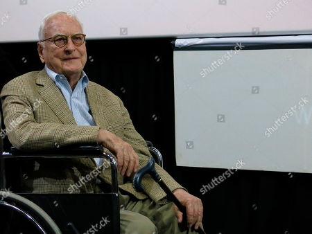 US filmmaker James Ivory arrives for a ceremony where he will receive a medal from the film archive of the National Autonomous University of Mexico (UNAM) in honor of his contributions to cinema during the Morelia Film Festival in Morelia, Mexico