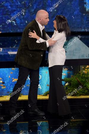 John Travolta and Luciana Littizzetto