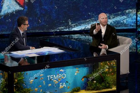 Fabio Fazio and John Travolta