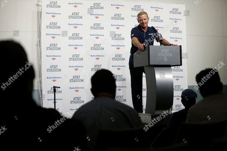 Dallas Cowboys head coach Jason Garrett responds to questions during a news conference after their NFL football game agains the Philadelphia Eagles in Arlington, Texas