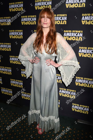 "Florence Welch attends the Broadway opening night of ""David Byrne's American Utopia,"" at the Hudson Theatre, in New York"