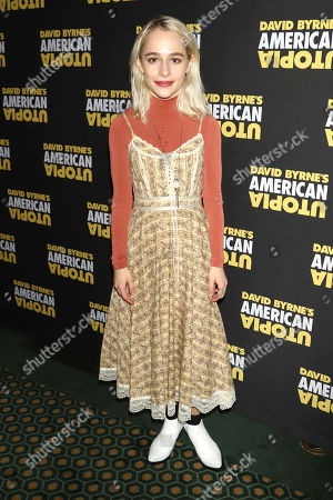 "Sophia Anne Caruso attends the Broadway opening night of ""David Byrne's American Utopia"" at the Hudson Theatre, in New York"