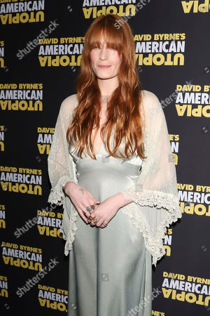 "Florence Welch attends the Broadway opening night of ""David Byrne's American Utopia"" at the Hudson Theatre, in New York"