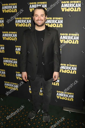 """Alex Brightman attends the Broadway opening night of """"David Byrne's American Utopia"""" at the Hudson Theatre, in New York"""