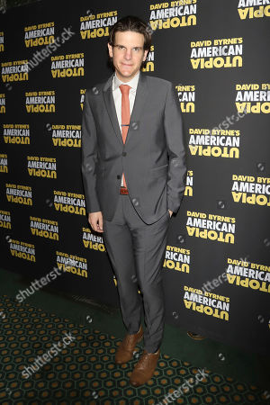 """Alex Timbers attends the Broadway opening night of """"David Byrne's American Utopia"""" at the Hudson Theatre, in New York"""