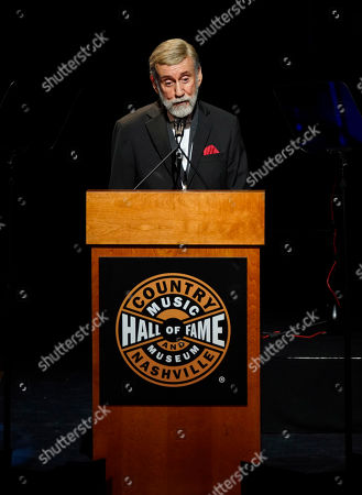 Ray Stevens speaks after being inducted into the Country Music Hall of Fame during the 2019 Medallion Ceremony at the Country Music Hall of Fame and Museum on in Nashville, Tenn