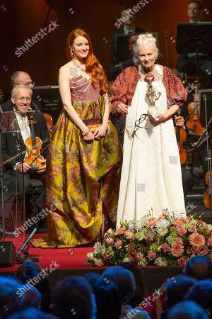 Barbara Meier and Vivienne Westwood