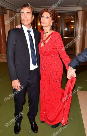 Carlo Ponti Jr and Sophia Loren