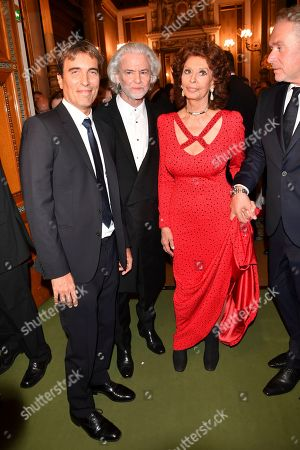 Carlo Ponti Jr, Sophia Loren and Hermann Buhlbecker