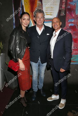 Stock Image of Katharine McPhee and David Foster with Rafi Anteby
