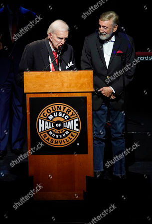 Ralph Emery,Ray Stevens. Ralph Emery, left, inducts Ray Stevens, right, during the 2019 Medallion Ceremony at the Country Music Hall of Fame and Museum on in Nashville, Tenn