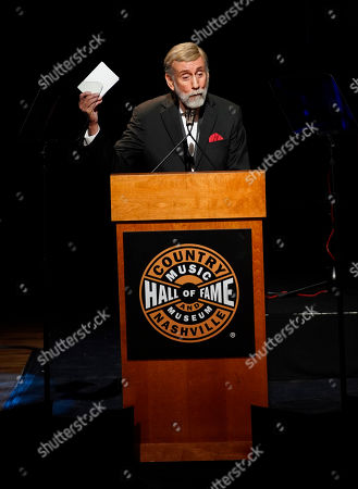 Ray Stevens speaks during the 2019 Medallion Ceremony at the Country Music Hall of Fame and Museum on in Nashville, Tenn