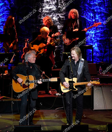 Stock Image of Marty Stuart,Travis Tritt. Marty Stuart, left, and Travis Tritt perform during the 2019 Medallion Ceremony at the Country Music Hall of Fame and Museum on in Nashville, Tenn