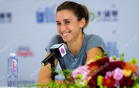 Petra Martic of Croatia during All Access Hour at the 2019 WTA Elite Trophy tennis tournament