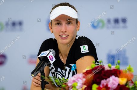 Elise Mertens of Belgium during All Access Hour at the 2019 WTA Elite Trophy tennis tournament