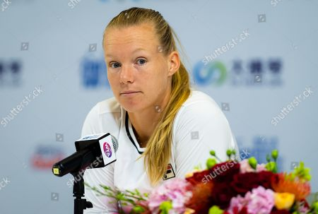 Stock Photo of Kiki Bertens of the Netherlands during All Access Hour at the 2019 WTA Elite Trophy tennis tournament