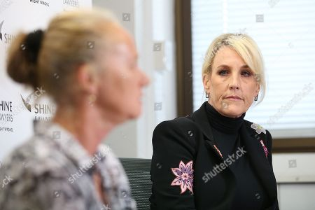 US legal clerk Erin Brockovich attends a press conference at Shine Lawyers in Brisbane, Australia, 21 October 2019. Shine Lawyers have been calling for stricter regulations in the stone industry, after one of their clients died from silicosis, an untreatable lung disease caused by silica dust inhalation. According to media reports, dozens of workers were diagnosed with silicosis in Australia.