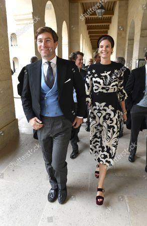 Stock Photo of Princess Marie-Astrid von und zu Liechtenstein and guest