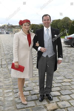Hereditary Grand Duke Guillaume of Luxembourg with his wife, Grand Duchess Stephanie of Luxembourg
