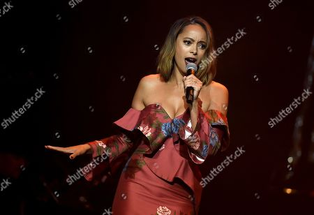 Stock Picture of Amber Stevens West performs