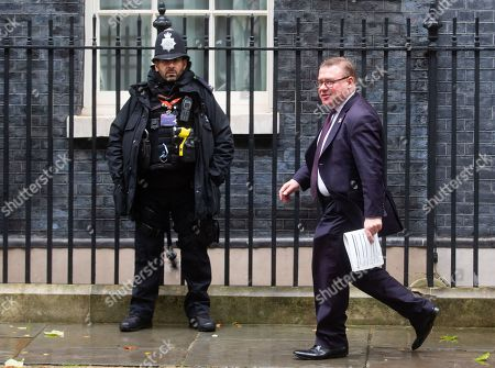 Deputy Chairman of the European research Group, Mark Francois, at Downing Street
