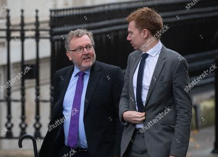 Stock Image of David Mundell MP arrives at Number 10 at Downing Street