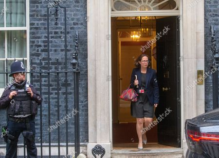 Stock Picture of Natalie Evans, Leader of the House of Lords, Lord Privy Seal, leaves Number 10 Downing Street