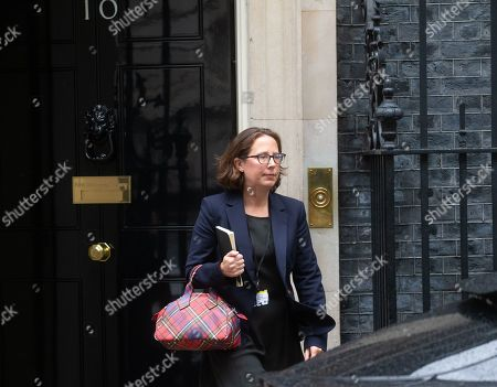 Stock Image of Natalie Evans, Leader of the House of Lords, Lord Privy Seal, leaves Number 10 Downing Street