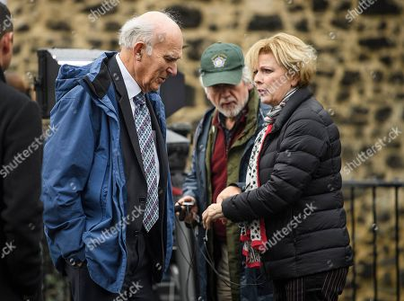 Former Lib Dem leader Vince Cable MP and Anna Soubry MP are seen talking to media in Westminster, London. Last week Parliament sat on a Saturday for the first time since 1982, but failed to vote on Boris Johnson's new Brexit deal.